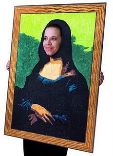 Mona Lisa Costume Mural