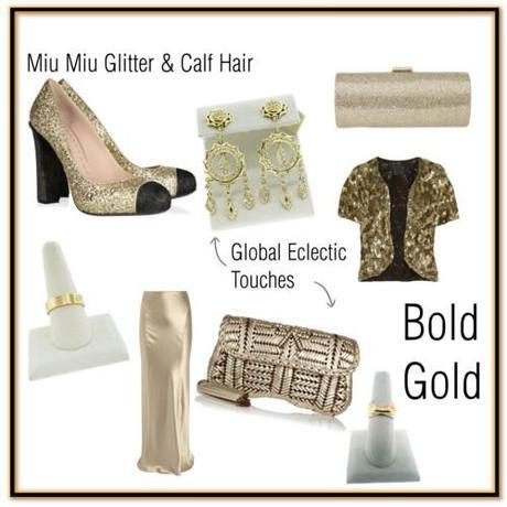 Tuesday Shoesday: Bold Gold