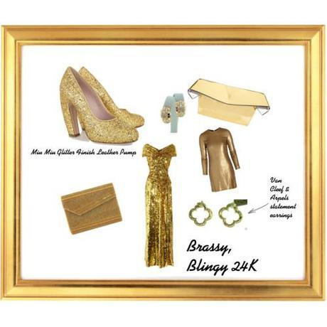 Tuesday Shoesday: Brassy, Blingy 24K
