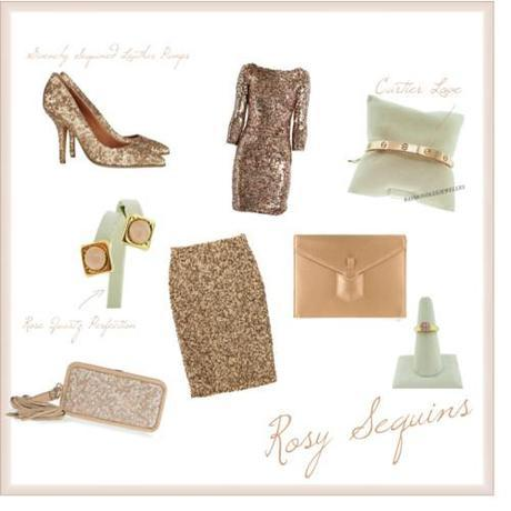Tuesday Shoesday: Rosy Sequins