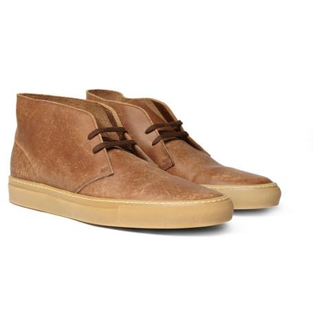 Common Projects Washed Leather Chukka Boots