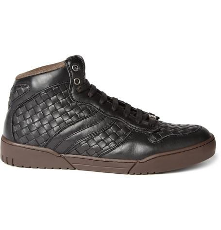 Leather Intrecciato Woven Sneakers