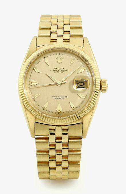 "Rolex,18K yellow gold, automatic center seconds, ""Datejust"", Chancellor of the Federal Republic of Germany, Konrad Adenauer"