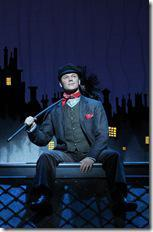 "Nicolas Dromard as 'Bert' performs ""Chim Chim Cher-ee"" as part of the National Tour Company of MARY POPPINS.  ©Disney/CML.  Photo credit: Joan Marcus."