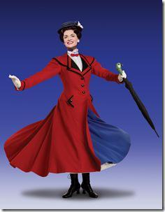 Rachel Wallace as 'Mary Poppins.'  National Tour Company of MARY POPPINS.  ©Disney/CML.  Photo by Joan Marcus.