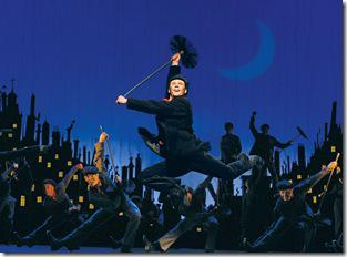 "Nicolas Dromard as 'Bert' performs ""Step In Time"" with the National Tour Company of MARY POPPINS.  ©Disney/CML.  Photo credit: Joan Marcus."