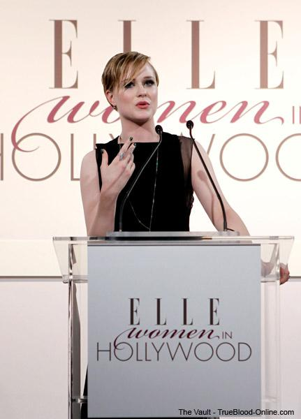 Evan Rachel Wood honored at ELLE's Women In Hollywood tribute