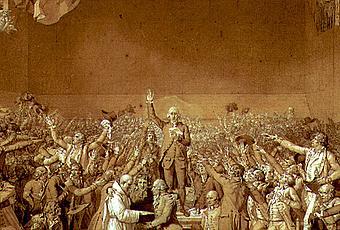 Jacques-Louis David, The Tennis Court Oath [1791] - Paperblog