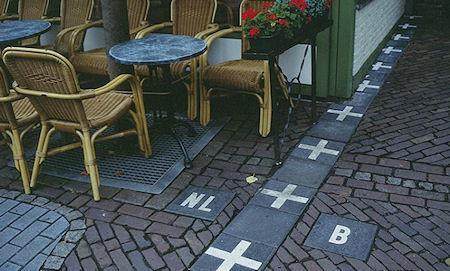 A Cafe That Sits Right On The Borderline Between Belgium And The Netherlands