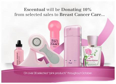 Breast Cancer Awareness Month - Escentual Donating 10% From Selected Sales To Breast Cancer Care!