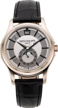 atek Philippe Very Fine & Rare Ref. 5205 Center-Seconds 18k White Gold Annual Calendar Center Seconds Self-Winding Wristwatch