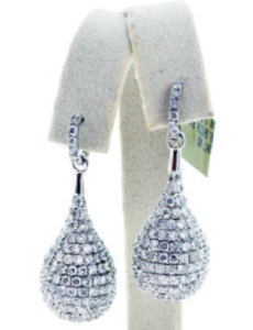 Feature Friday: White Gold and Diamond Pave Raindrop Earrings
