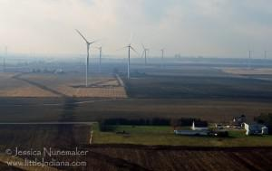 Indiana Wind Farms: Turbines Near I65