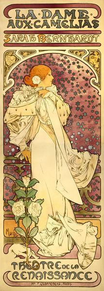 File:Alfons Mucha - 1896 - La Dame aux Camélias.jpg