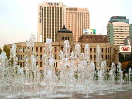 My Favorite Photos: Fountain by Seoul City Hall