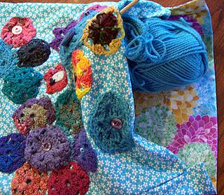 Bag with Crocheted Hexagons