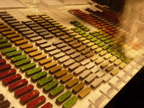 Salon Du Chocolat Chocolate of every flavor including Wasabi and Bamboo! But of course I went for the fashion show at the end, where all the dresses were made from chocolate!