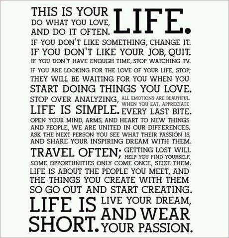 This is YOUR Life draft for monday