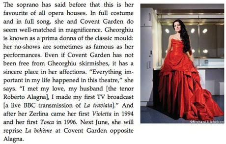 Angela Gheorghiu tells a story she loves about the Royal Opera House