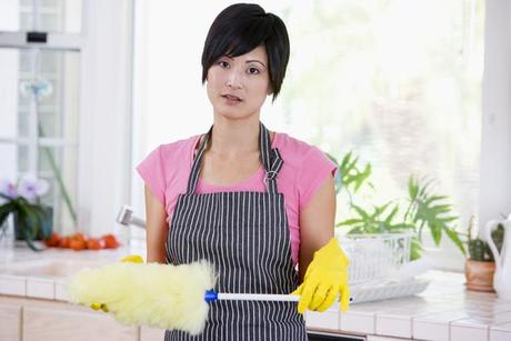 clean woman Green Your Cleaning & Save Some Money Too