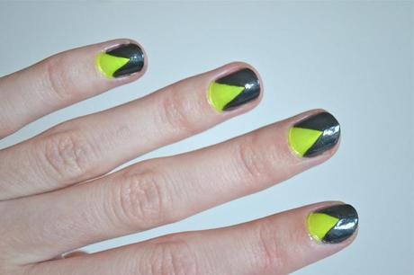 How To: Neon Split Nails