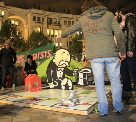 banksy occupy london 460x415 Banksys new artwork for the Occupy London Movement