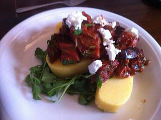 Spiced Aubergine with Polenta