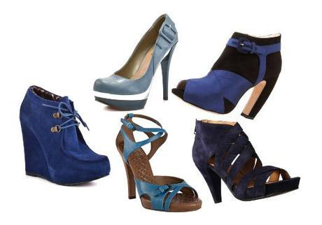 blue shoe fashion