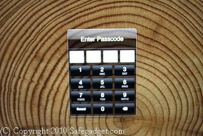 iPad password entry screen
