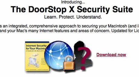 Macintosh Security Software DoorStop X