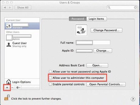 Macintosh Security Software Users And Groups Password