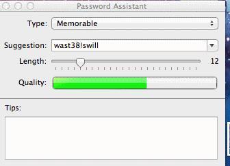 Macintosh Security Software Password Analyzer