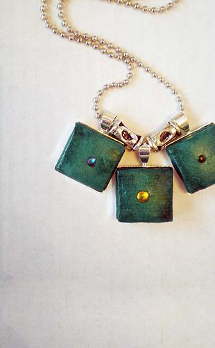 Folded squares pendant