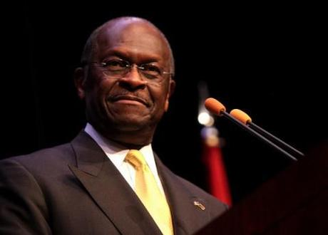 Smoking hot: Republican presidential frontrunner Herman Cain's strange campaign ad