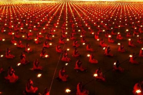 monks meditating for the shift 2011