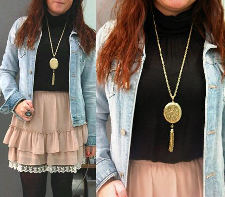 gold locket pendantWhat to Wear Now: A Large Pendant Necklace