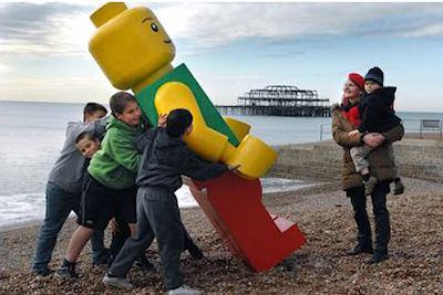 Giant Lego Man Washes Up On Florida Beach