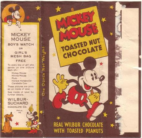 Candy Wrapper Archive - the best on the web Mickey Mouse Chocolate packaging