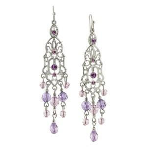 Orchid Hues Cascading Earrings