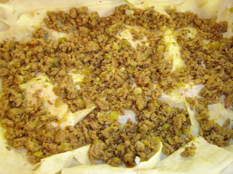 Börek - Ground Meat and Leek-Filled Pastry