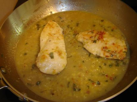 Chicken Breasts in Lemon and Sage Sauce