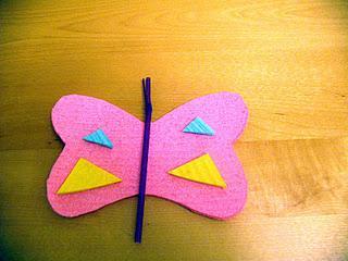 Kids Crafts:Foam Butterfly