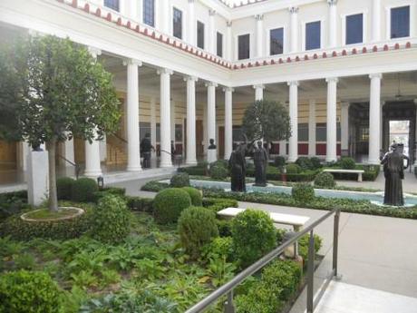 Inner peristyle courtyard of Getty Villa Malibu