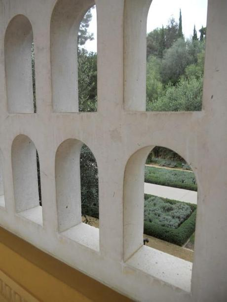 Outer Peristyle Window to Herb Garden at the Getty Villa