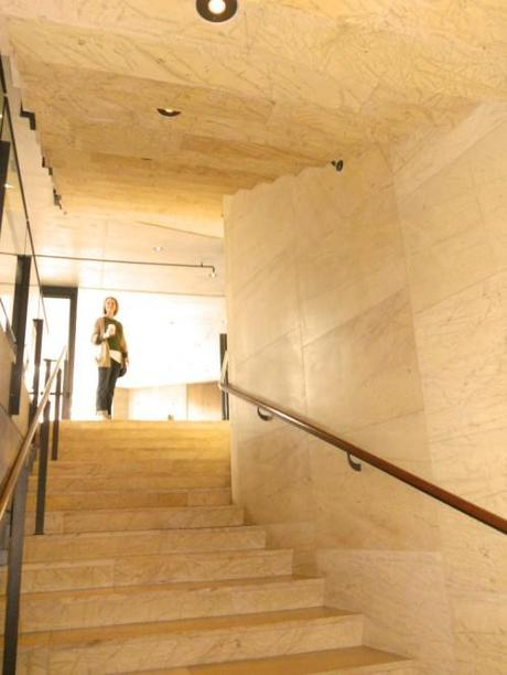 Amarillo triana marble floors and ceiling of Getty Villa Malibu