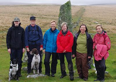 Outing to Down Tor Stone Row
