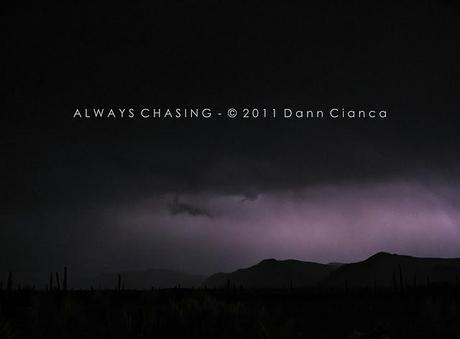 2011 Storm Chase 8 - May 22nd - Dinner Break East Desert Lightning Bust