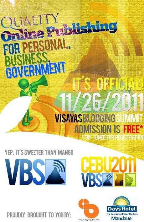 Join the Visayas Blogging Summit 2011 for FREE!