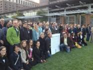 B Corps Gather in Front of Independence Hall to Celebrate their Interdependence