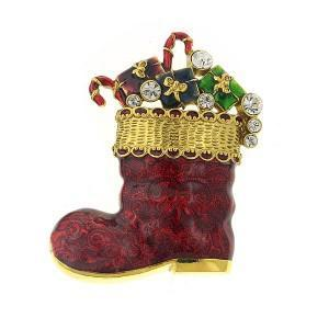 christmas stuffer boot pin